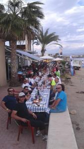 comida pie playa la frontera