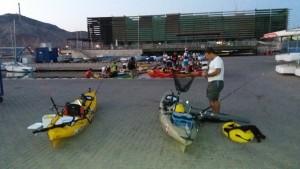 PesKa Liga RCR Cartagena pesca en kayak